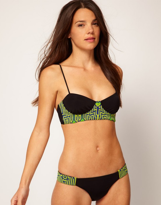 Mara Hoffman Beaded Bistier Bikini set