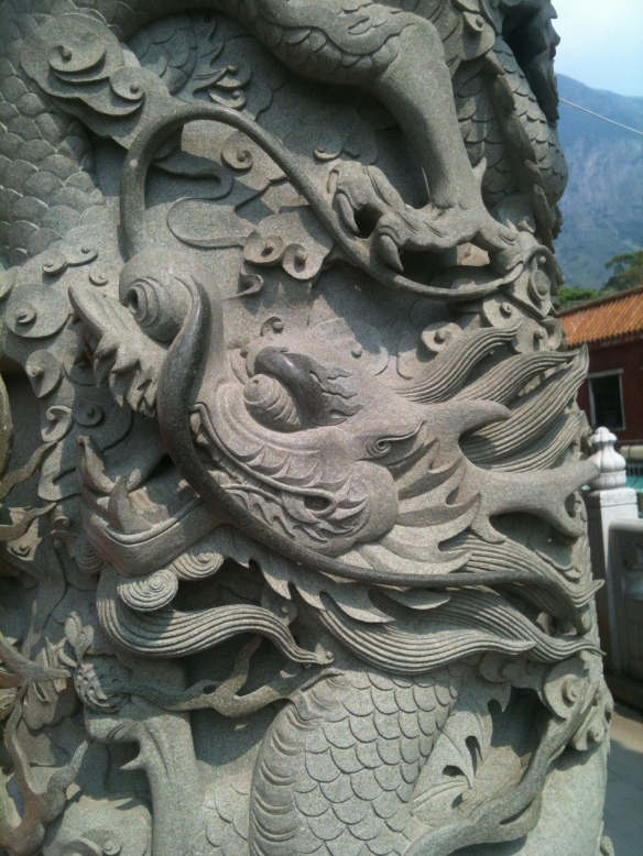 Carvings of a dragon