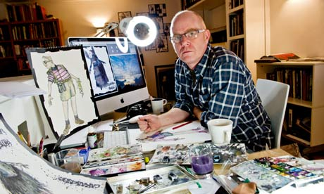 Brotherston in his studio.