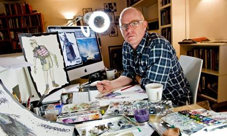 Brotherston in his studio.