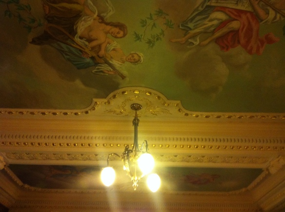 The ceiling at the Theature Royal