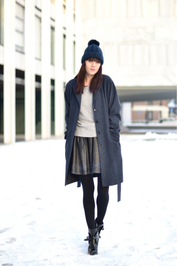 winter skater skirt