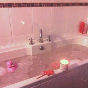 Time for a relaxing bath