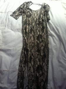 Snake inspired dress